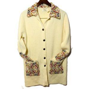 Vintage JC Penney Sweater Med Southwest Cardigan